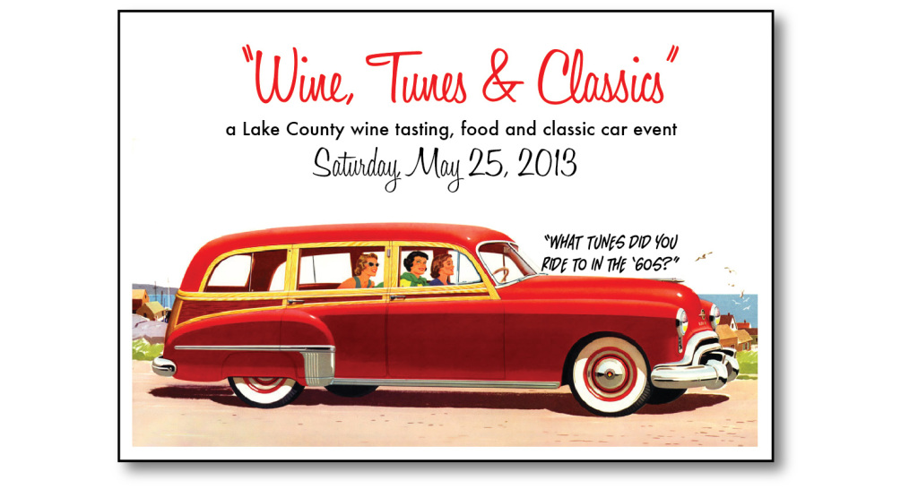 Wine, Tunes, and Classics graphic