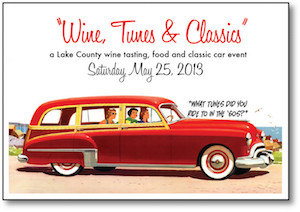 Wine, Tunes and Classic graphic