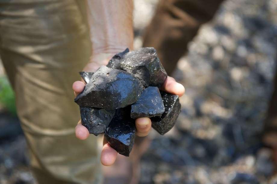 Obsidian rocks from Obsidian Ridge Vineyard