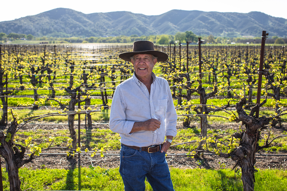 Bernie Luchsinger standing in vineyard