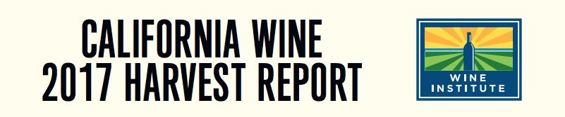 California Wine 2017 Harvest Report banner