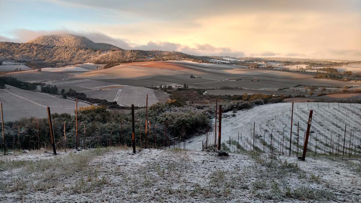 Red Hills with Snow, (c) Bruce Merrilees