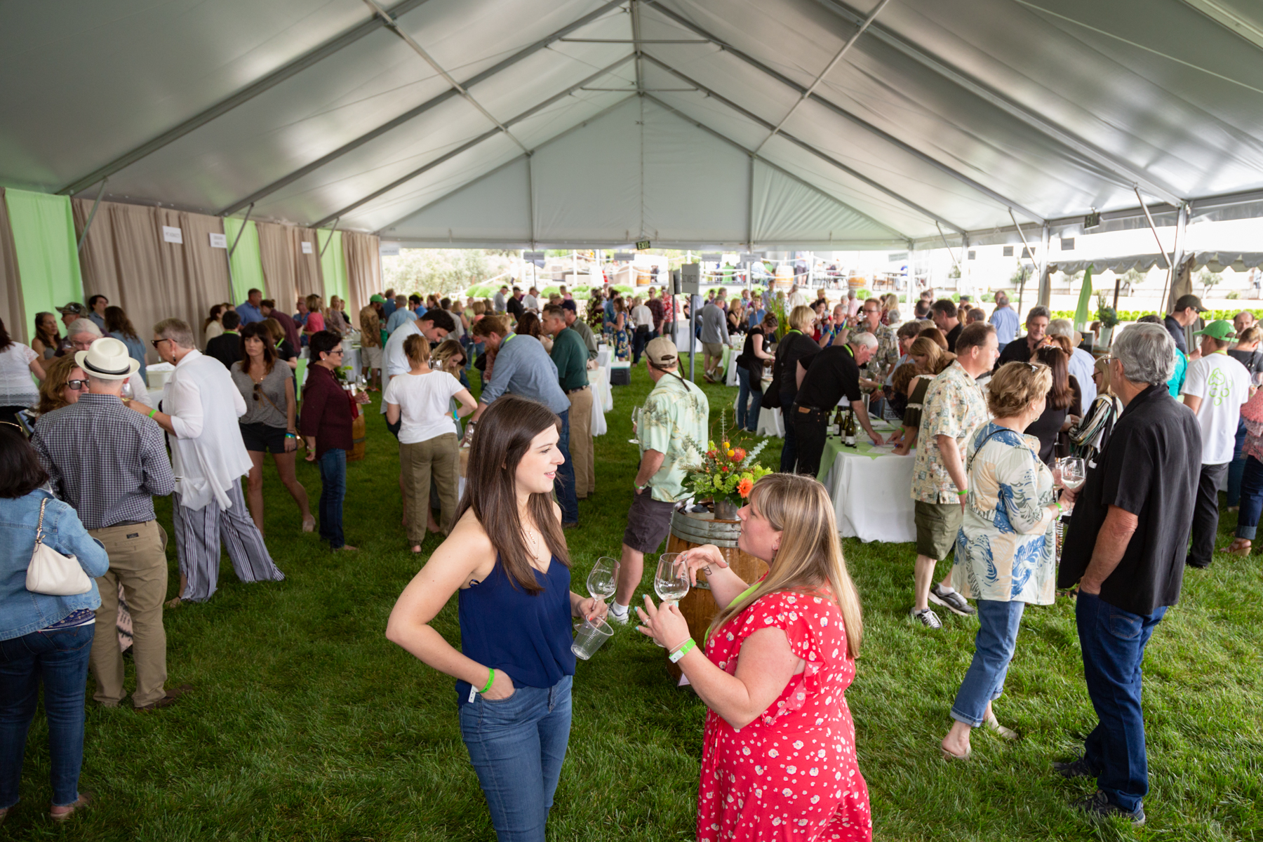 Inside the tent at Sauvignon Blanc Experience Grand Tasting