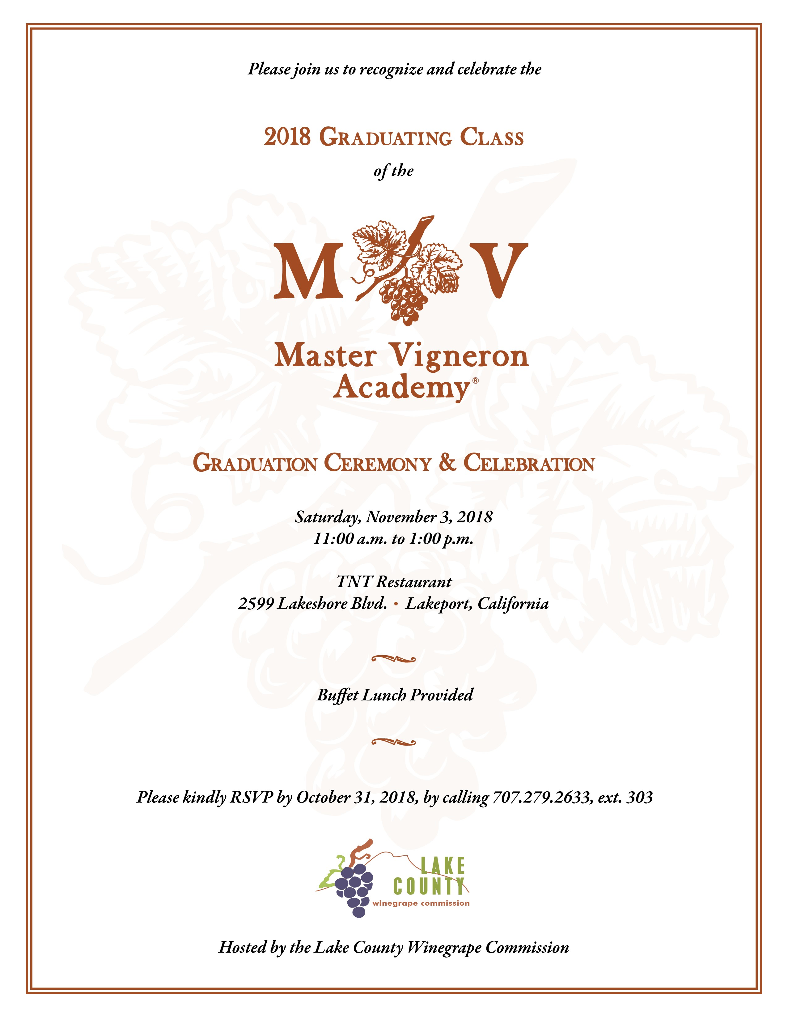 Master Vigneron Academy Graduation - Ceremony & Celebration