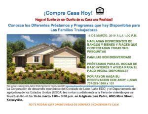 Spanish and English Language USDA Housing Fair @ Glebe Hall