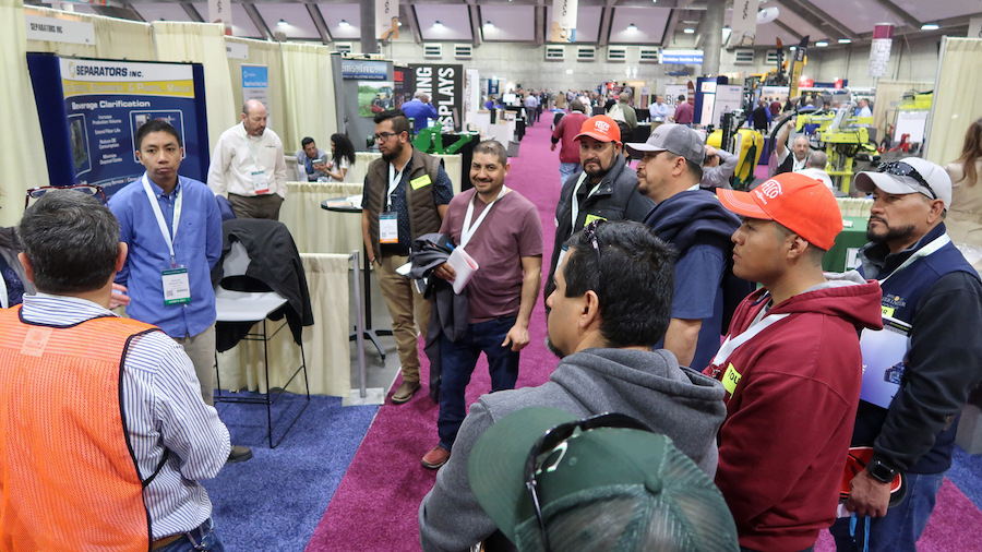 Master Vigneron Academy(R) students tour the Unified Symposium trade show floor