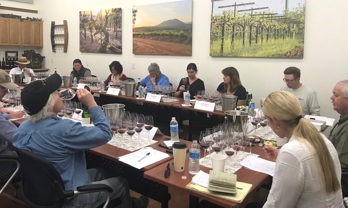 Sensory tasting for LCWC's Wildland Fire Smoke Impact on Winegrapes Research Project