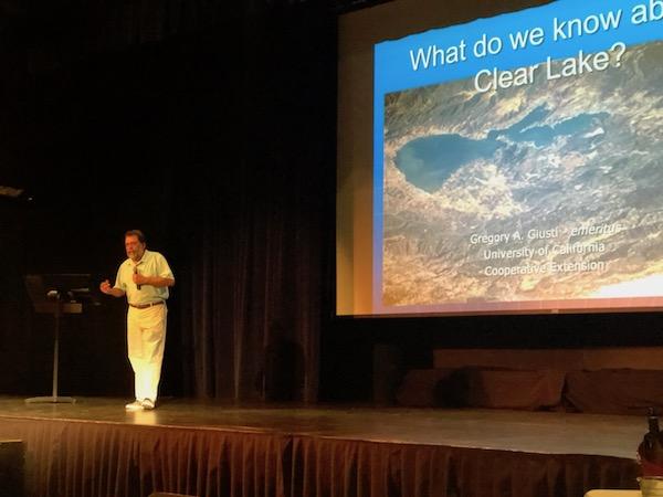 Agventure Lite, Lake County, June 2015, Greg Giusti on stage at Soper Reese Theatre
