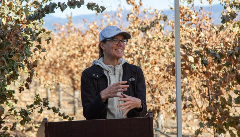 Photo 7 Kendra Baumgartner discusses grapevine trunk diseases and effective control practices
