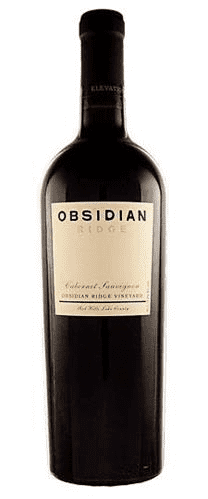 Bottle of Obsidian Ridge Cabernet Sauvignon from Lake County, Calif.