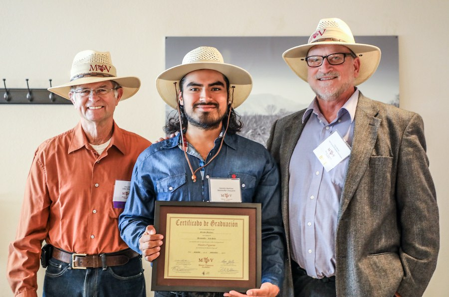 Student graduating from Lake County Master Vigneron Academy class of 2019