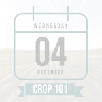 Calendar icon representing Crop 101, grayed out
