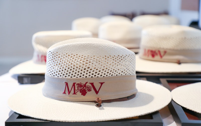 Specially designed hats for the Master Vigneron Academy graduates