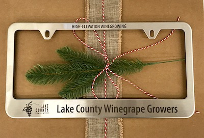 Lake County Winegrape Growers customized license plate frame