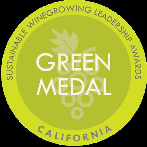 Sustainable Winegrowing Leadership Awards Green Medal logo