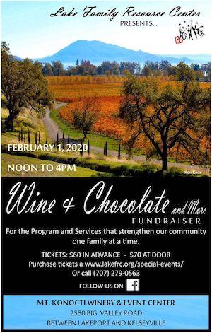 Wine & Chocolate event flyer