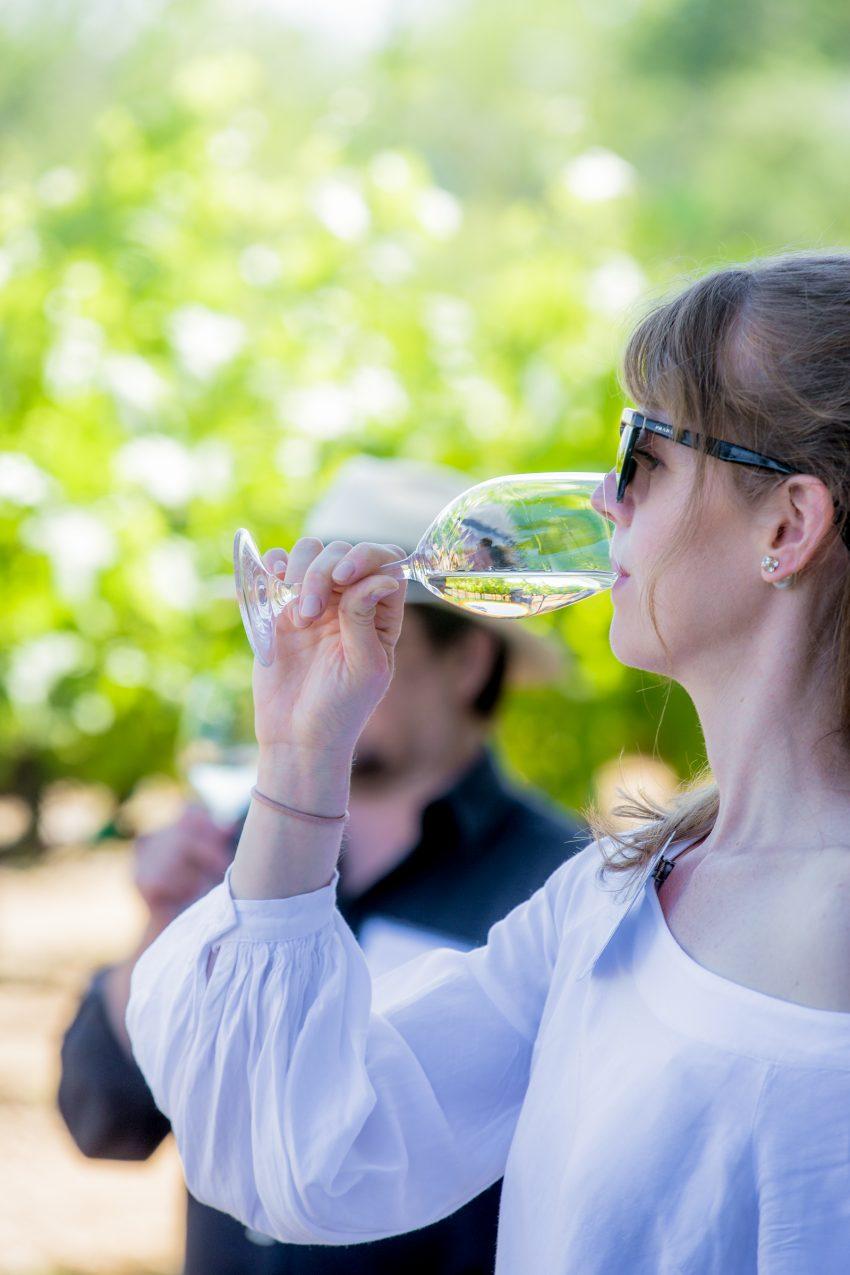 Female drinking Sauvignon Blanc