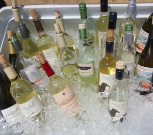 Lake County Sauvignon Blanc bottles on ice
