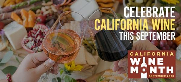California Wine Month Banner, 2020