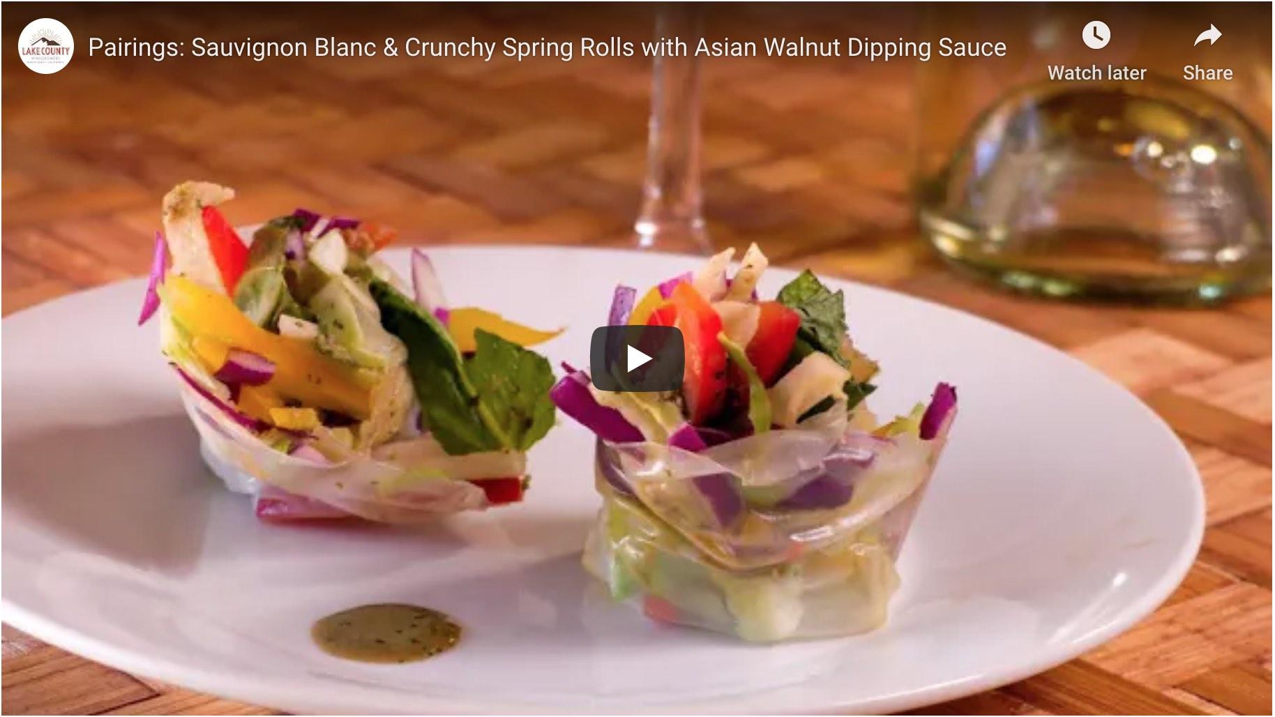 Video: crunchy spring rolls by Cheryl Forberg