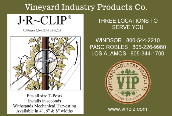 Vineyard Industry Products ad for JR Clip