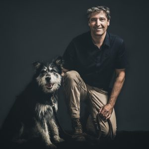 Peter Molnar and dog
